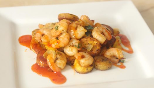 Stir-Fry Caribbean Prawns and Plantain recipe