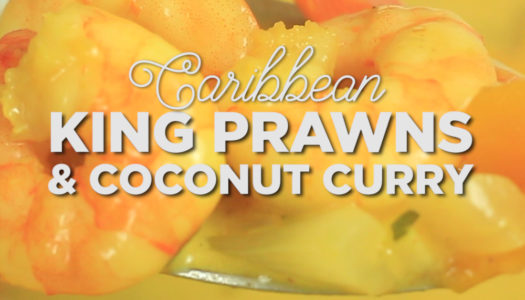 Caribbean King Prawns & Coconut Curry