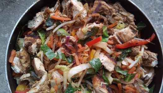 Jerk chicken stir fry