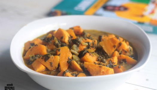 Sweet potato, pumpkin and callaloo curry