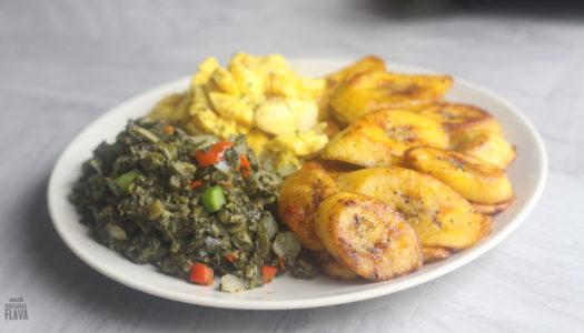 Vegan Platter (Plantain,Callaloo,Ackee)