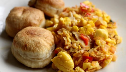 Ackee & Saltfish w/ Fried Dumplings