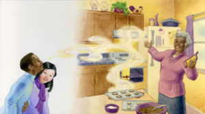 Singing while cooking