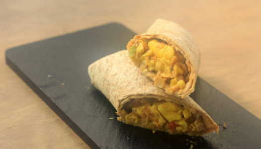 Spicy Ackee and Saltfish wrap