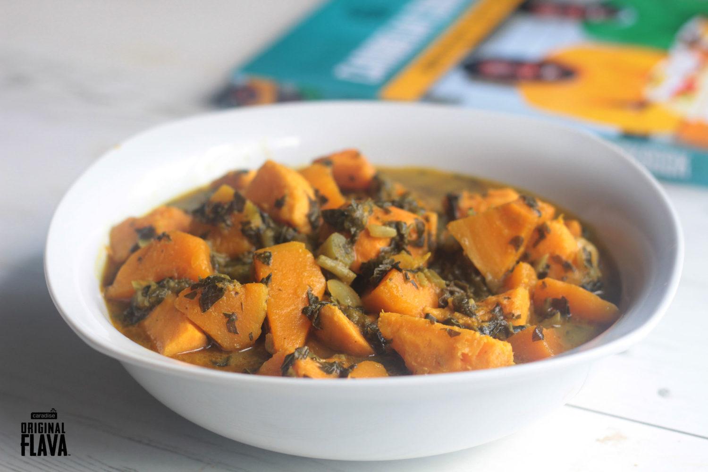sweet potato pumpkin and callaloo curry  original flava