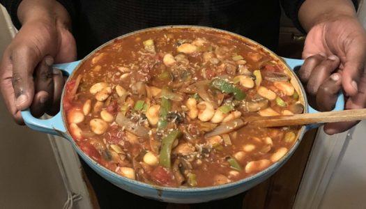 Butterbean & mushroom coconut stew