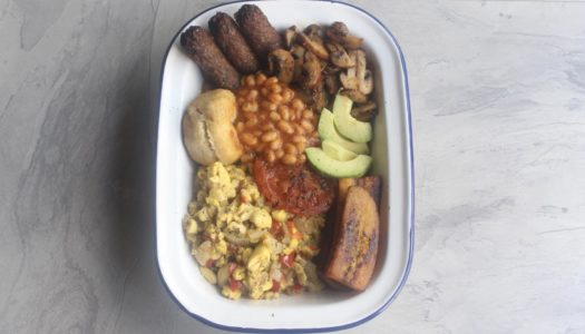Carib-british breakfast (Best of both worlds)