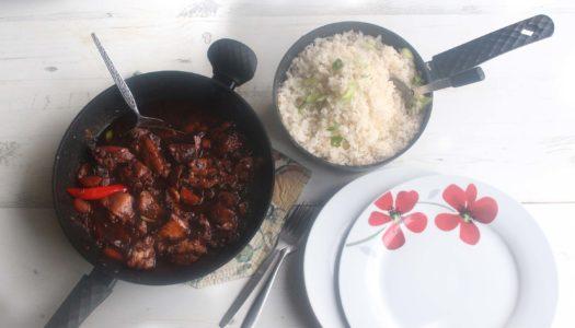 Stew chicken and Rice #FivePoundFlava