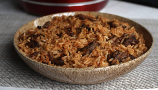 Stew chicken Jollof rice