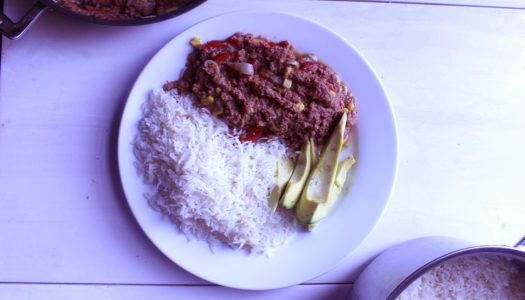 Bully beef & rice