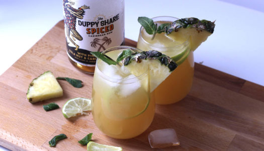 Spiced Pineapple & Ginger Rum punch