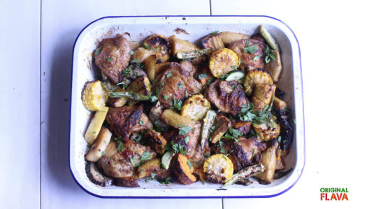 One pot Chicken & Caribbean veggies