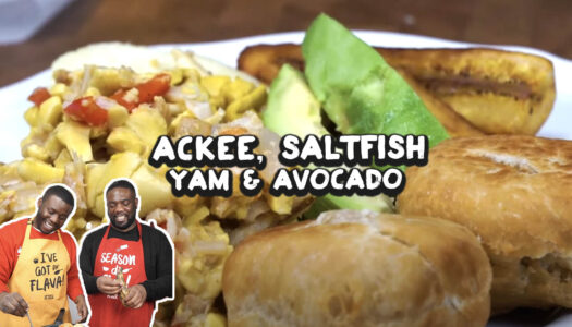 Ackee and saltfish w/ Dumplings