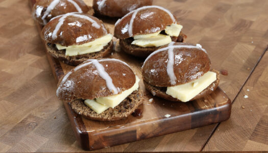 Hot cross bun and cheese