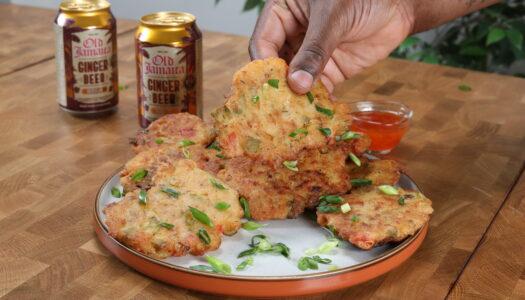 Ginger beer battered saltfish fritters