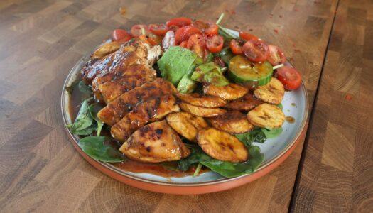 Mango chicken & Plantain salad